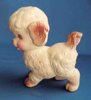 happy SUN RUBBER dog puppy DOLL squeak toy 6 tall swivel head