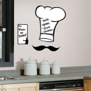 Chefs Hat Dry Erase Peel & Stick Giant Wall Decals