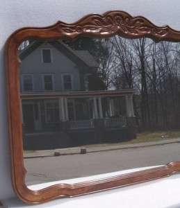 DREXEL FURNITURE CARVED OAK COUNTRY FRENCH MIRROR