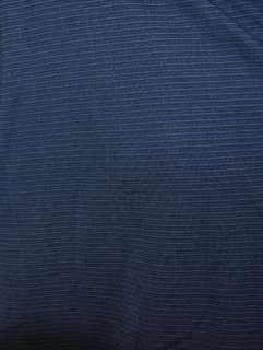 Mens Short Sleeve Polo Golf Shirt Navy Blue Stripe Size Medium