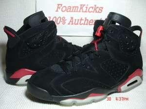 Nike Air Jordan VI 6 Retro Black/Varsity Red Infrared CDP Men Size 10