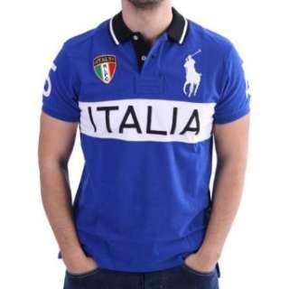 Ralph Lauren Länder Polo Shirt   Italy   Blau  Bekleidung