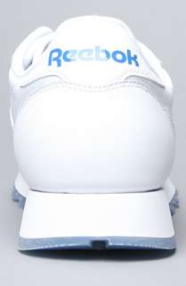 Reebok The Classic Leather Ice Sneaker in White Royal  Karmaloop