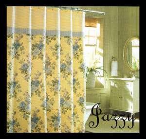 New Laura Ashley Caroline Fabric Shower Curtain