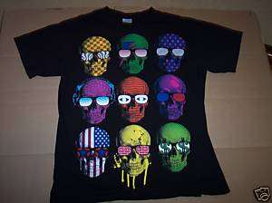 Crazy Skeleton SKULL HEADS With SUNGLASSES Cool T Shirt