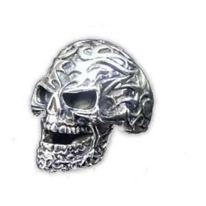 Ring Tattoo Skull Tribal Totenschädel Totenkopf Silber Schmuck Ringe