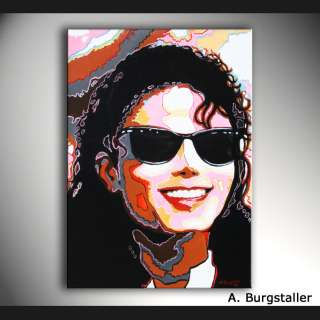 Bild Abstrakt Gemälde Michael Jackson Portrait in POP Art