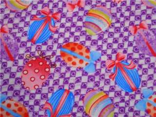 New Easter Holiday Eggs Gingham Check Fabric BTY |