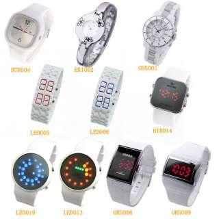 New White Digital LED/Quartz Sport Lady Men Wrist Watch