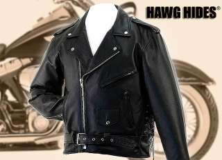 Solid Leather Motorcycle Jacket New Hawg Hides ® HH126 L, XL, 2XL