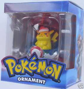 POKEMON Christmas Ornament PIKACHU Basic Fun POKE NIB