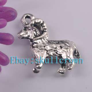 FREE SHIP 60pcs Tibetan Silver Ram Charms LP7259 19mm