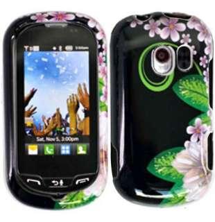 Verizon Lg Extravert VN271 Green Flower Skin Snap on Hard Case Cover
