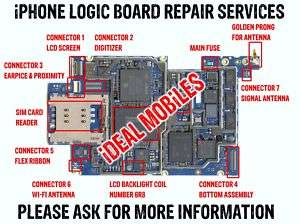 3G 3GS 4 4S REPAIR SERVICE MAIN MOTHER LOGIC BOARD FAULTY SPARES FIX
