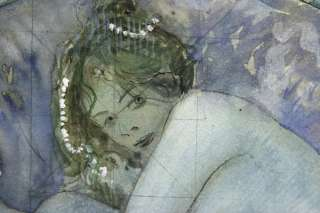 EDUARD VEITH DIE PERLE IN DER MUSCHEL Aqua/Pap.um 1900