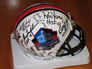 Pro Football Hall of Fame NFL Mini Helmet Signed by 14 HOFers