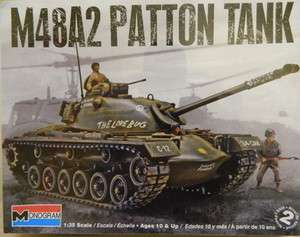 Revell/Monogram 1:35 Scale M48A2 Patton Tank Plastic Model Kit Skill