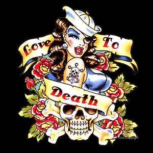 Rockabilly Tattoo Flash Pin Up T Shirt *91117 neu