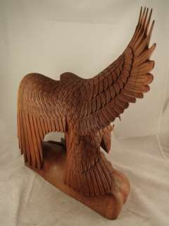 16 Bali Hand Carved LARGE Eagle Spreading Wings Statue