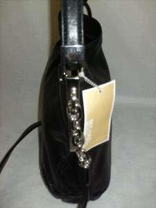 Michael Kors Leather Julian Shoulder Bag Satchel Handbag Black $278