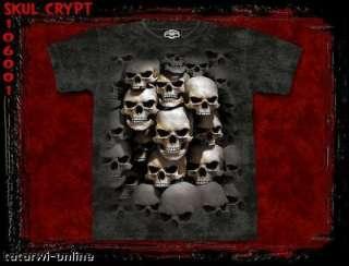 Shirt Skulbone Skull Crypt Gr.M Neu