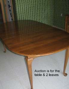 Ethan Allen CIRCA 1776 Solid Maple Oval Extension Table 18 6814 & 2