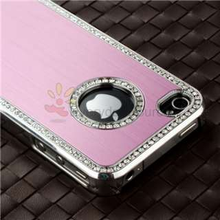 Diamond Aluminium Case Cover For iPhone 4 4S 4G Verizon AT&T Pink