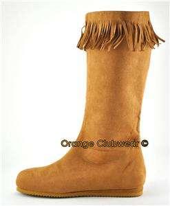 FUNTASMA Mens Indian Costume Calf High Halloween Boots