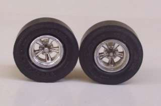 Goodyear Drag Slicks 2 Mag Wheels 125 Model Car Parts #69