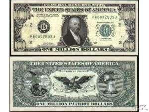 99 Patriot Million Dollar Bills  