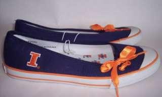 Illinois Fighting Illini College Skimmer Shoes Flats Slip Ons