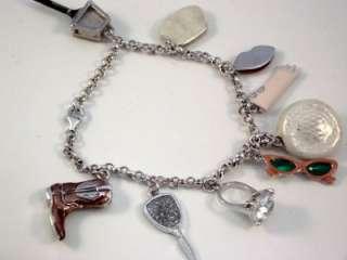 NEW MARILYN MONROE 9 Charm Bracelet Dress Shoe Lips ++