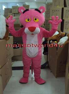 Brand New Pink Panther Mascot Costume Fancy Dress Cartoon Suit Adult