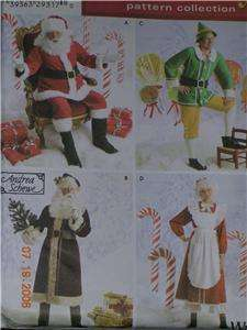 Santa Mrs Clause Father Christmas Elf Costume Pattern