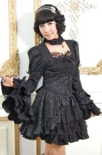 GLP Gothic Lolita Kleid Cosplay schwarz lila Petticoat