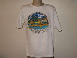 80s TAHITI T Shirt LARGE/XL tourist beach island surf soft thin hawaii