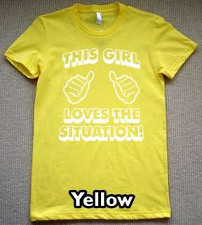 this girl THE SITUATION T Shirt new jersey shore tee