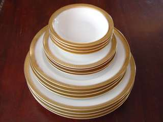 16 Pc Rosenthal Dishes Fine China 24kt Gold Chain White |