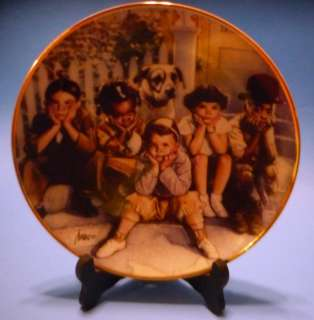 THE LITTLE RASCALS LTD EDITION #erd PLATE FRANKLIN MINT