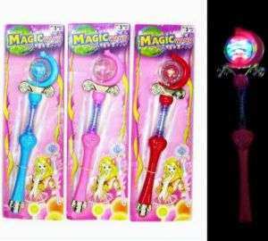 LIGHT UP SPINNING BALL PRINCESS WAND toy party fun