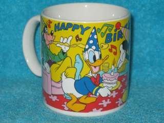 Disney Mickey Mouse, Minnie, Donald Duck and Goofy Happy Birthday