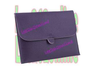 HOT Purple POUCH LEATHER BAG CASE COVER FOR IPAD 2 IPAD2