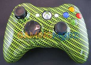 Green Carbon Fiber XBOX 360 10 Mode Rapid Fire Wireless Controller
