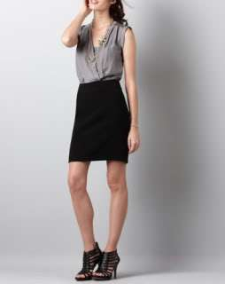 NWT ANN TAYLOR LOFT Black & Grey Colorblock Combo Dress 8 $89