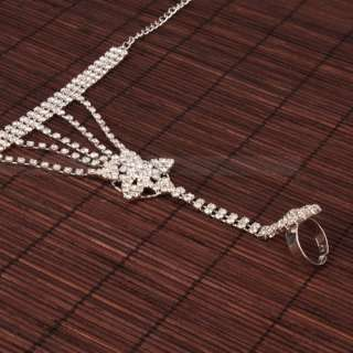 Exquisite Charming Star shaped Rhinestone Silver plated Link Chain