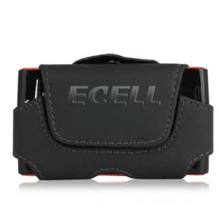 BLACK HORIZONTAL LEATHER POUCH CASE BELT CLIP FOR SONY ERICSSON XPERIA