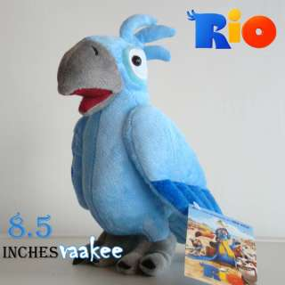 RIO Movie Character Blu Bird Plush Toy 8.5 Male Parrot Stuffed Animal