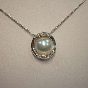 Girocollo Perle Mabè e Diamanti NIMEI oro bianco 18 kt