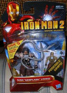 MARVEL IRON MAN 2 WHIPLASH IVAN VANKO SHORT PACKED
