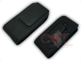 Vertical Black Leather Case for Nokia C2 02